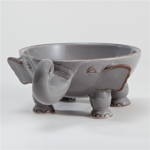 Elephant bowl and mug set from Our Green House. Gifts for elephant lovers. Gifts for people who love elephants. Elephant charity, elephant earrings. Elephant gifts idea.