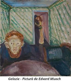 Gelozie - Pictură de Edvard Munch
