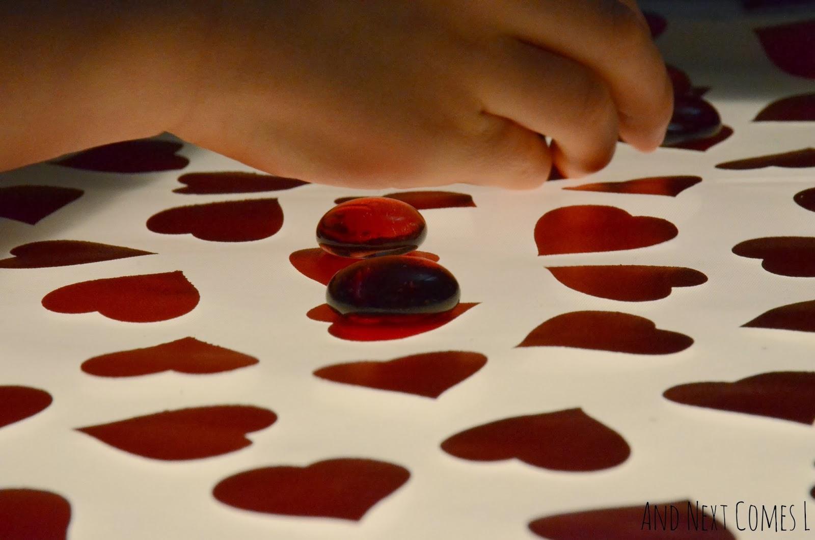Valentine S Day Light Table Activity