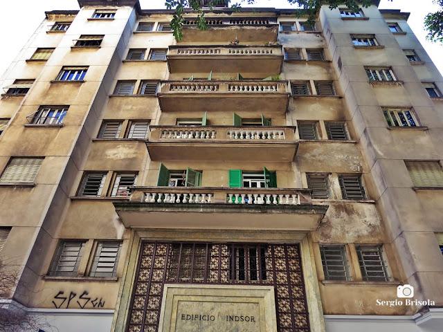 Vista ampla da fachada do Edifício Windsor - Vila Buarque - São Paulo