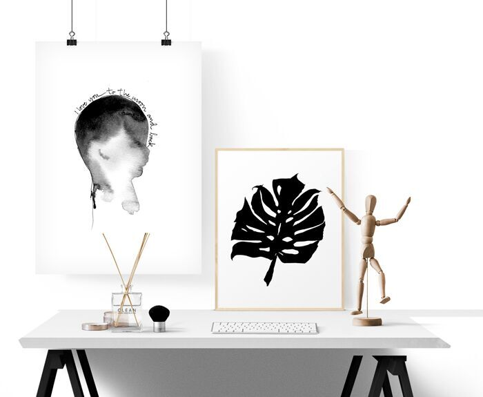monster, tavla, tavlor, poster, psoters, print, prints, konsttryck, födelse, födelsetavla, födelsetavlor, annelies design, webbutik, svartvit, svartvita,