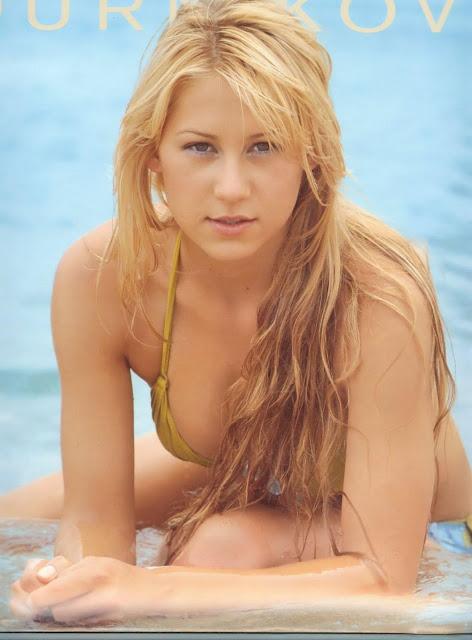 Celebrities In Hot Bikini Anna Kournikova Retired