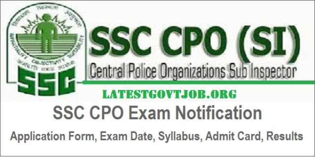 SSC CPO Recruitment 2018 for SI & ASI 1223 Vacancies @ssconline.nic.in