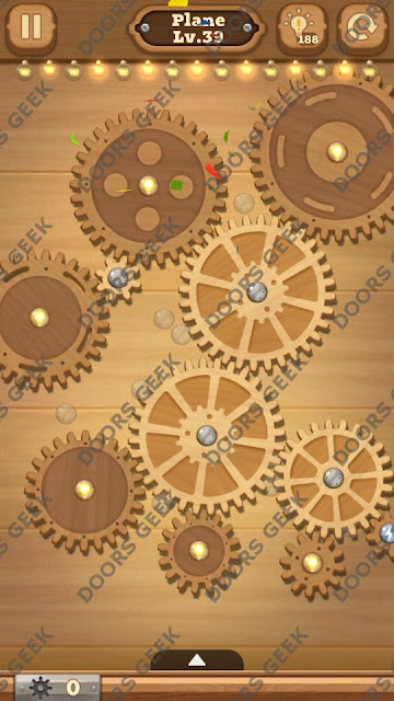 Fix it: Gear Puzzle [Plane] Level 39 Solution, Cheats, Walkthrough for Android, iPhone, iPad and iPod