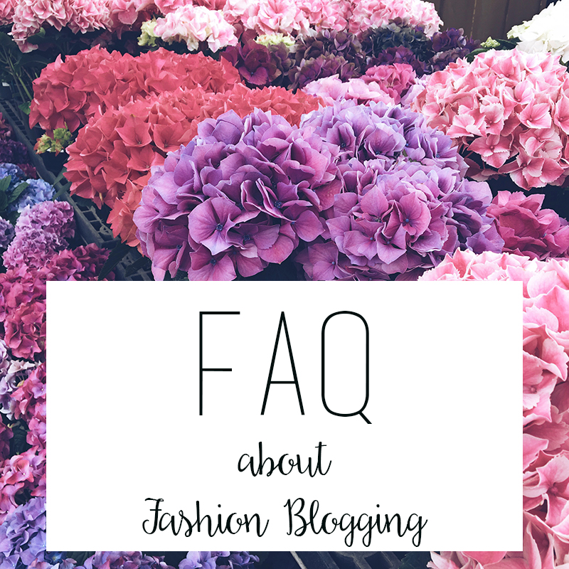 FAQ about blogging, how to blog, starting a fashion blog
