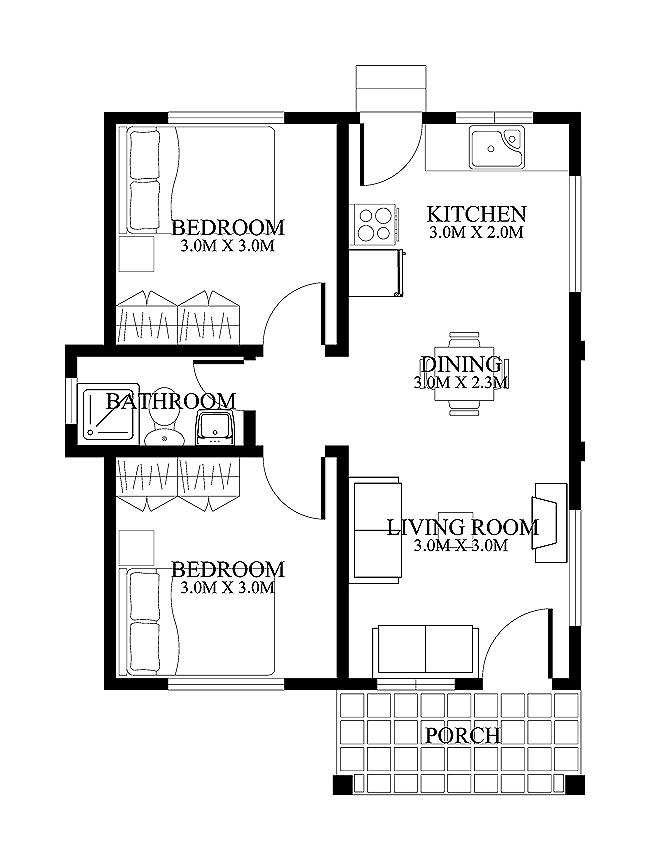 15square Metres House Ideas: HOUSE PLAN OF SMALL HOUSE DESIGN 120 SQ.M