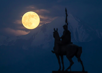 Supermoon Di Kazakhstan