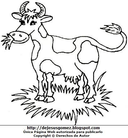 Dibujo de vaca para niños para pintar imprimir. Imagen de vaca de Jesus Gómez