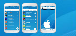 Apple 10 iOS Blue Theme For GBWhatsApp Download By Leideh