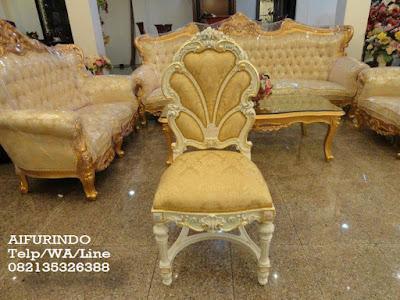 Kursi makan ukir cat Putih-Toko Mebel jati klasik-Toko jati-Furniture Klasik Mewah-Jual Kursi makan ukir jepara cat putih