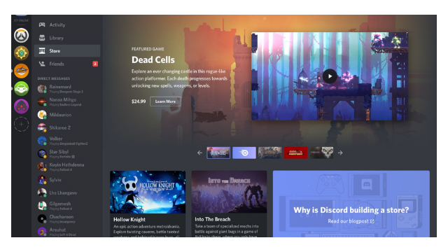 Discord have a new game store now?
