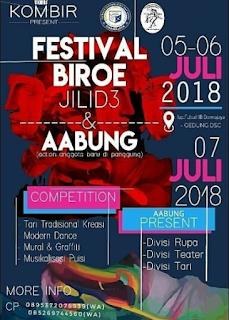 Event Festival BIROE Jilid 3 2018 SMA & Umum di IBI Darmajaya
