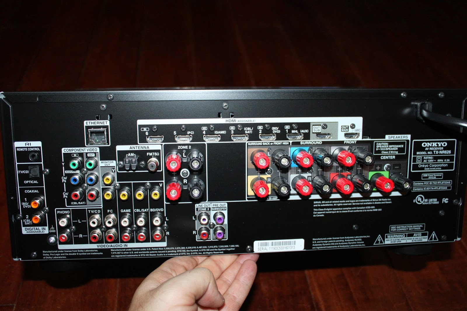 Stereowise Plus: Onkyo TX-NR626 7 2 Channel Network A/V