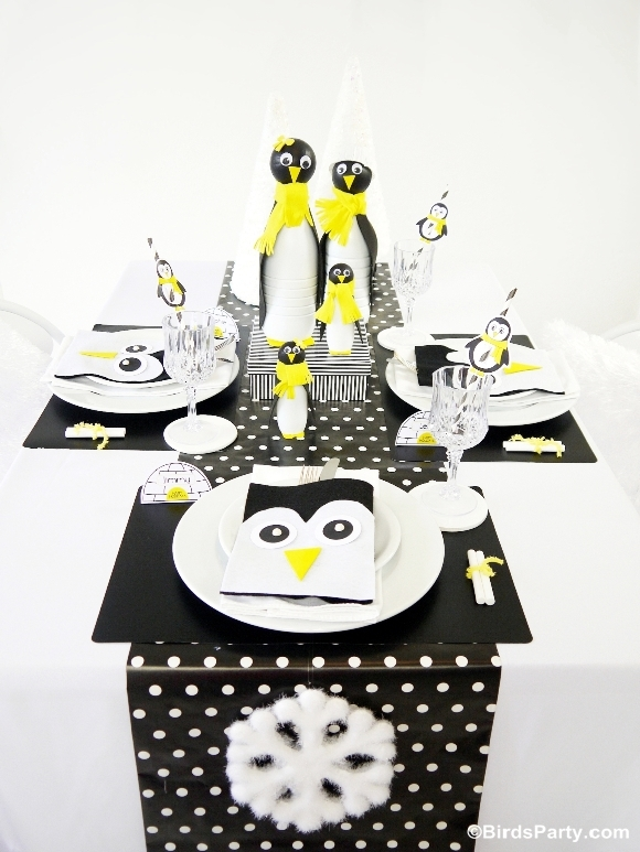 A Penguin Themed Kids Christmas Holiday Tablescape & A Penguin Themed Kids Christmas Holiday Tablescape - Party Ideas ...
