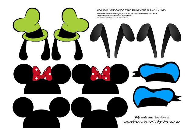 Cajas de Donald, Tribilín, Pluto, Mickey y Minnie para Imprimir Gratis.