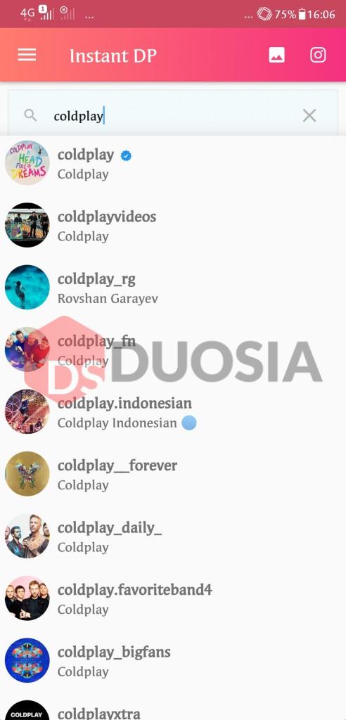 Cara view DP instagram