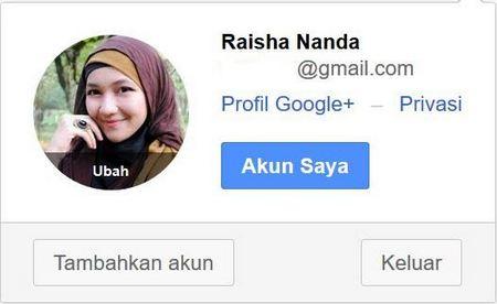 cara ganti foto profil akun google