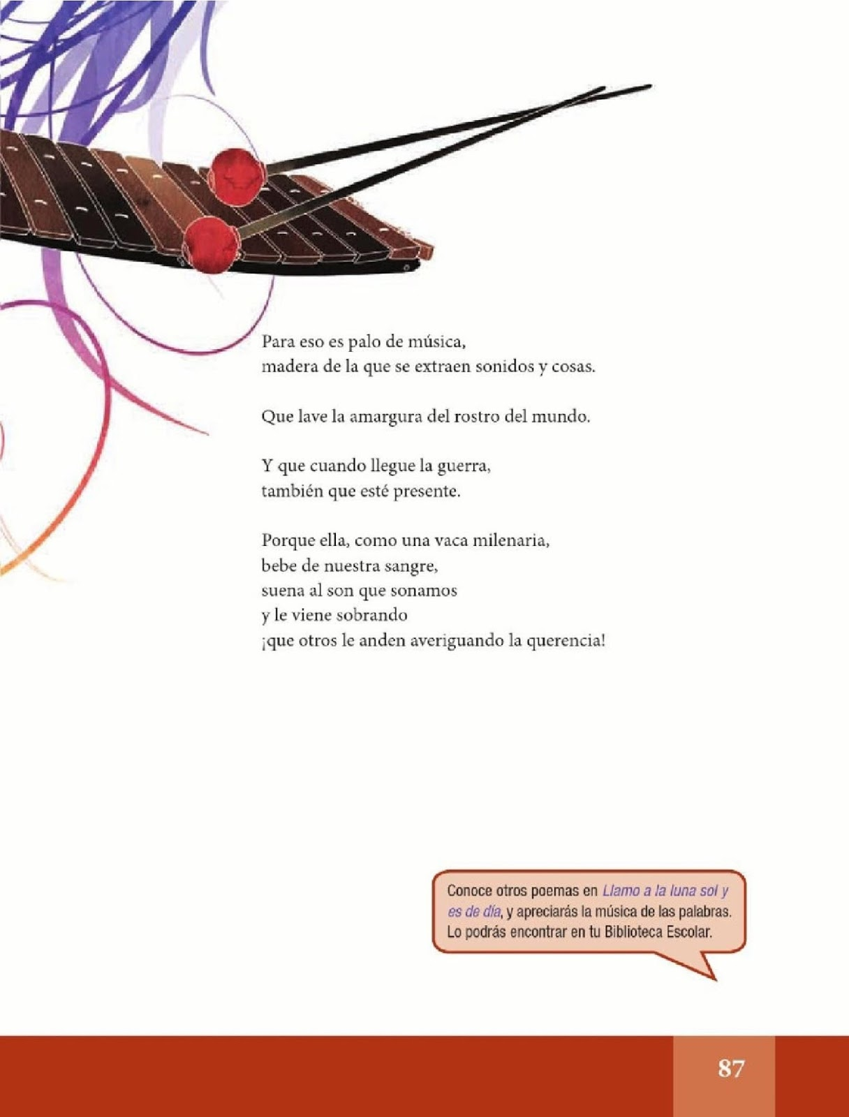 La marimba - Español Lecturas - Sexto Grado ~ Apoyo Primaria