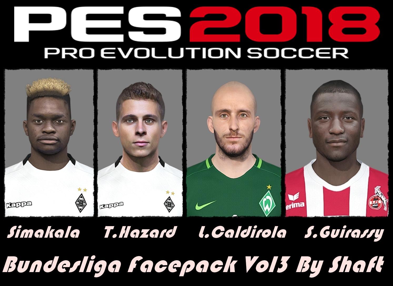 PES 2018 Bundesliga Facepack Vol3 by Shaft
