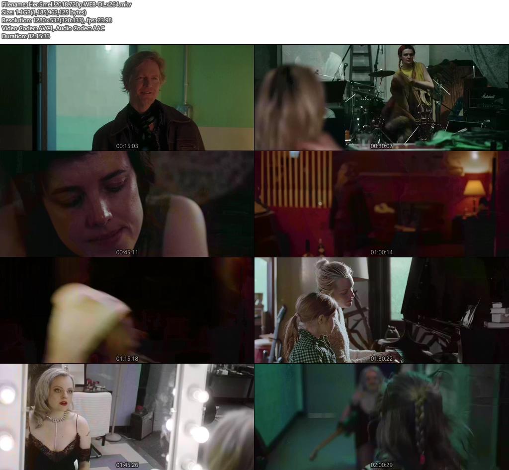 Her Smell 2018 720p WEB-DL x264 | 480p 300MB | 100MB HEVC Screenshot