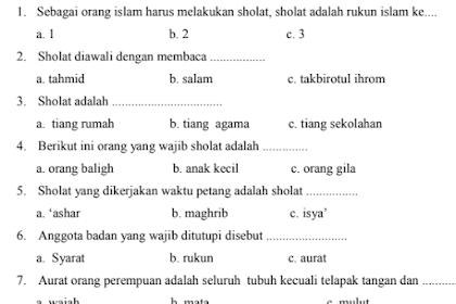 Soal UKK Fiqih Kls 2 MI Semester 2 Kurikulum 2013