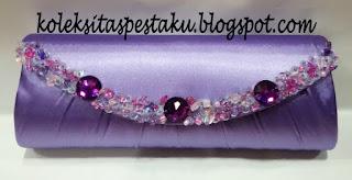 tas pesta handmade ready stock ungu muda