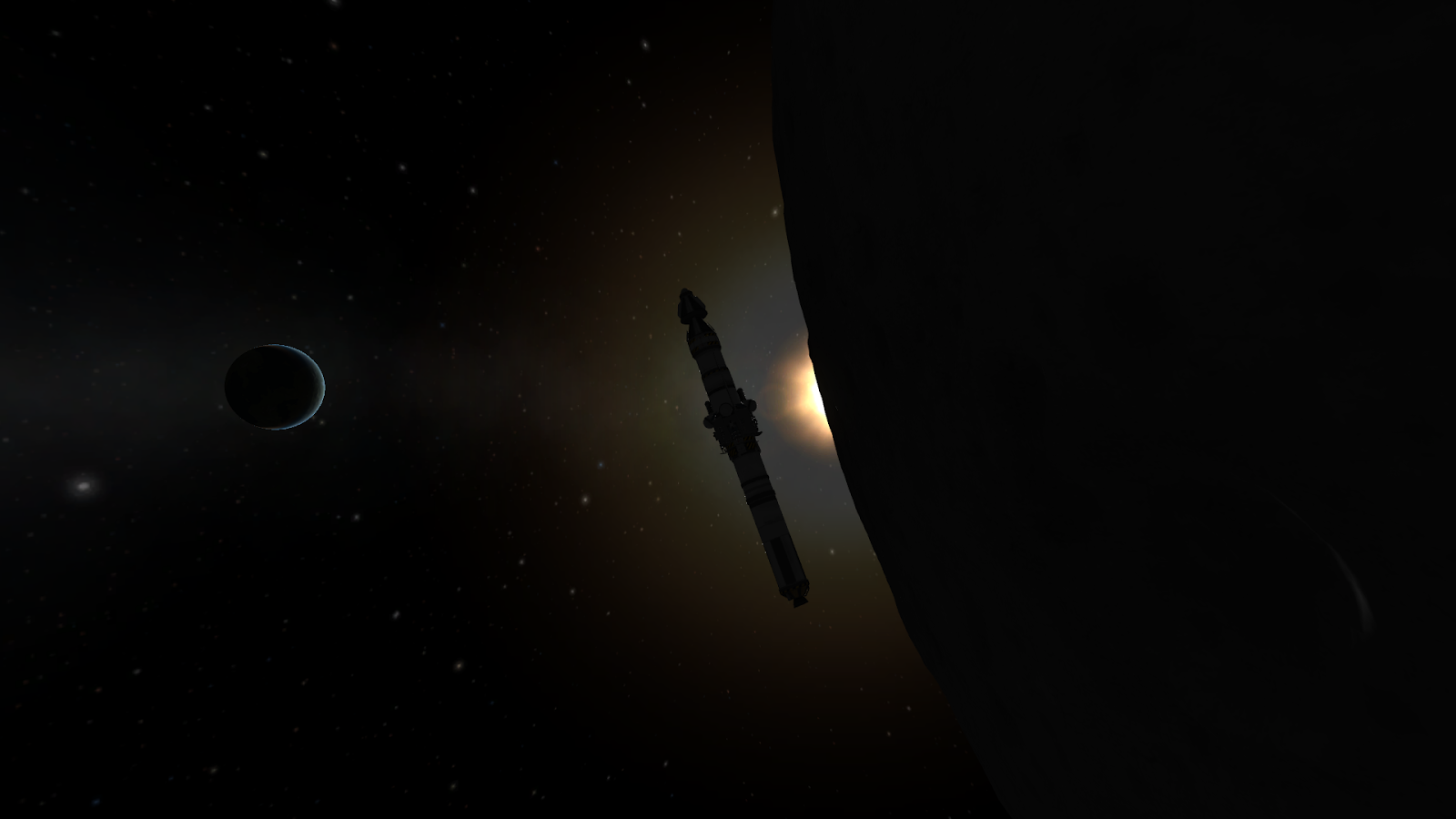 To the Mun! The First Munar Landing Mission by Kerbals   KSP