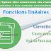 Correction - S'auto-évaluer Vrai ou Faux page 191 - Fonctions linéaires