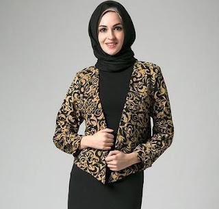 Blazer Batik Wanita Kerja