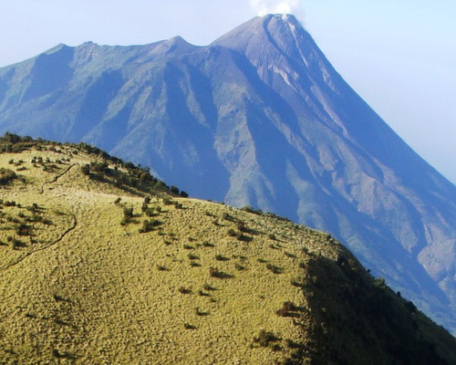 Tinuku.com Travel Mount Merapi National Park conservation area most active volcanoes in the world and tracks geological sites