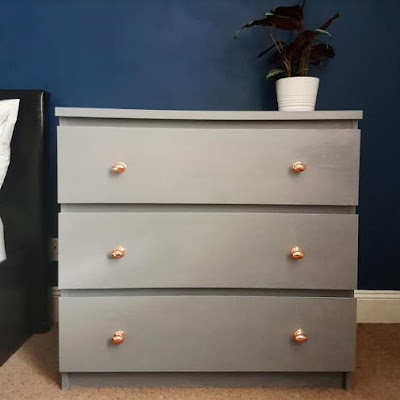 Ikea malm upcycle unit in grey what claire did