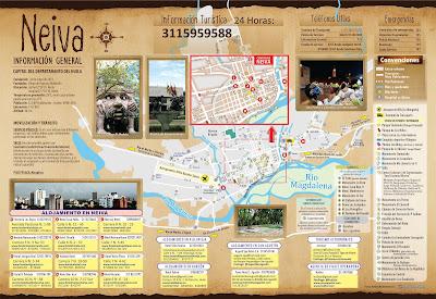 Mapa Neiva, turismo, viajes al desierto de la tatacoa, viajes a termales, viajes a san agustín