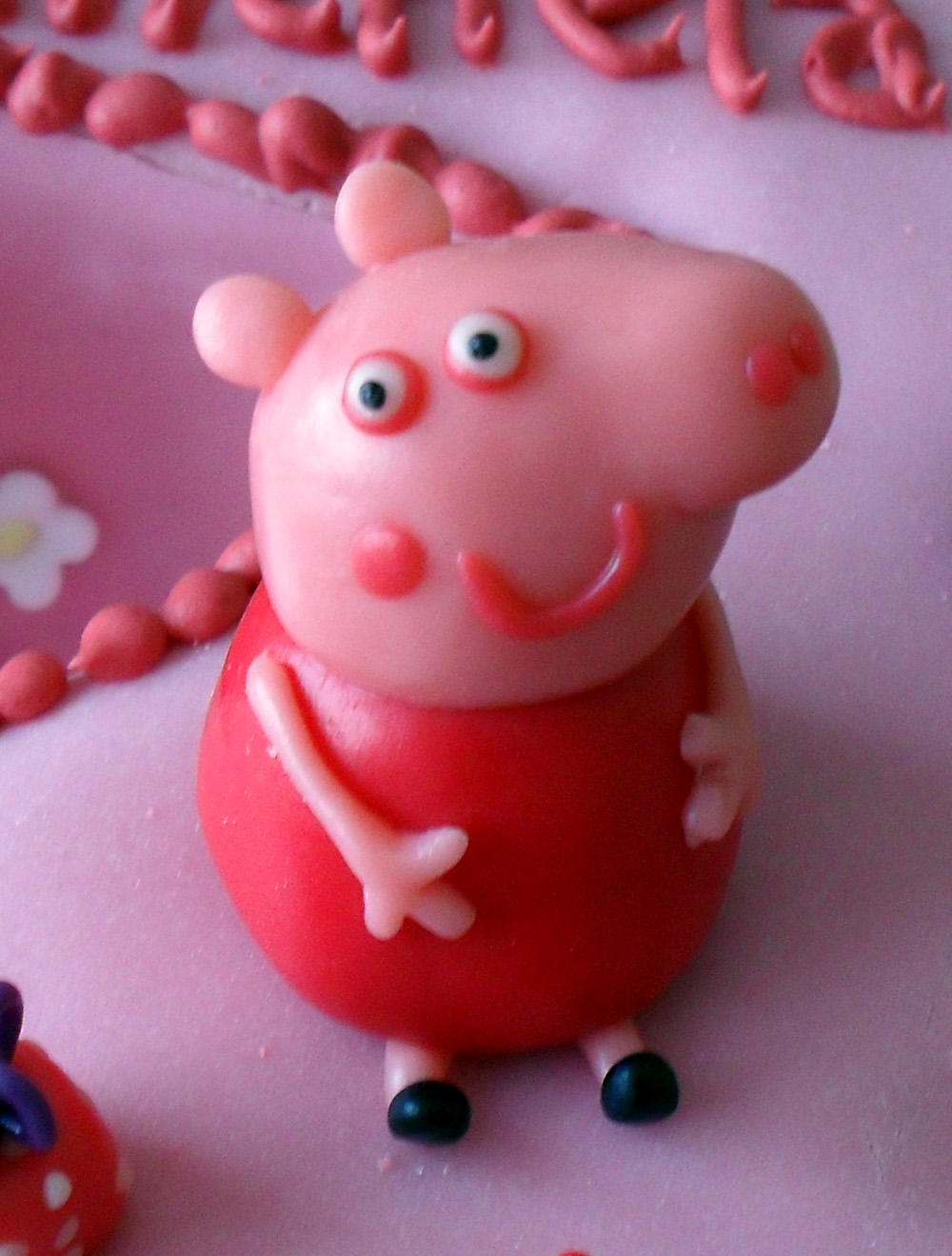 Pig Party Likewise Peppa On George Birthday Cake Template