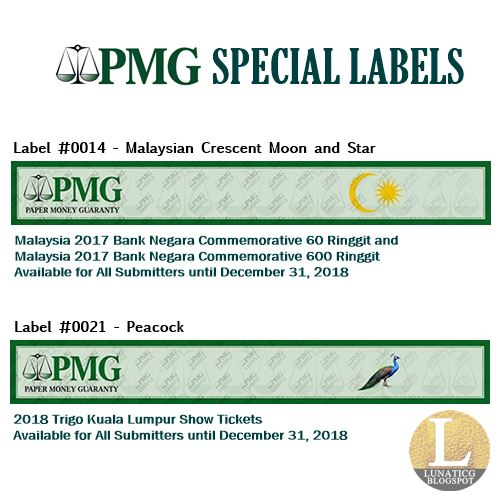 PMG Special Label