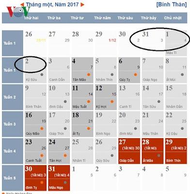 lich nghi tet duong lich 2017