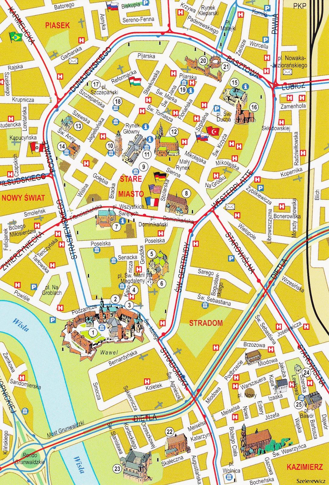 B Mevo Mapa Krakowa
