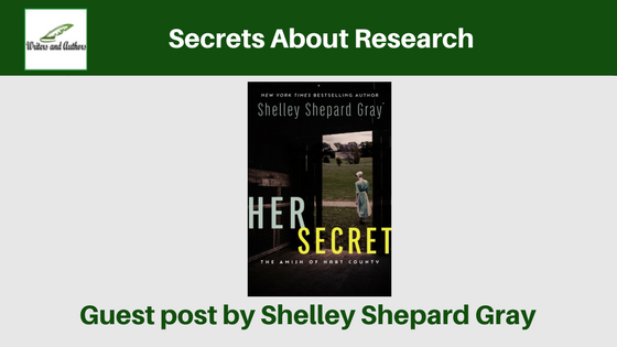 Secrets About Research, guest post by Shelley Shepard Gray