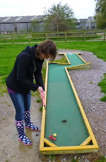Photo of the Mini Golf course at Mead Open Farm in Billington