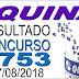 Resultado da Quina concurso 4753 (17/08/2018)