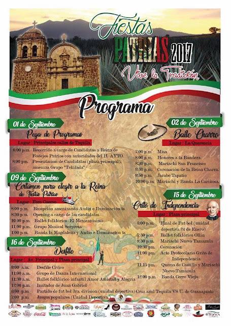 fiestas patrias tequila 2017