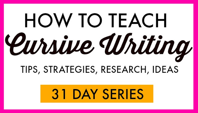 How to teach cursive writing with tips, strategies, ideas, and research