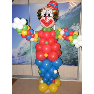 Фигура из надувных шаров - клоун
