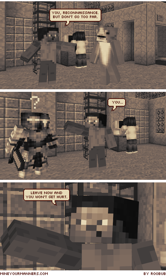 Mine Your Manners Minecraft Webcomic