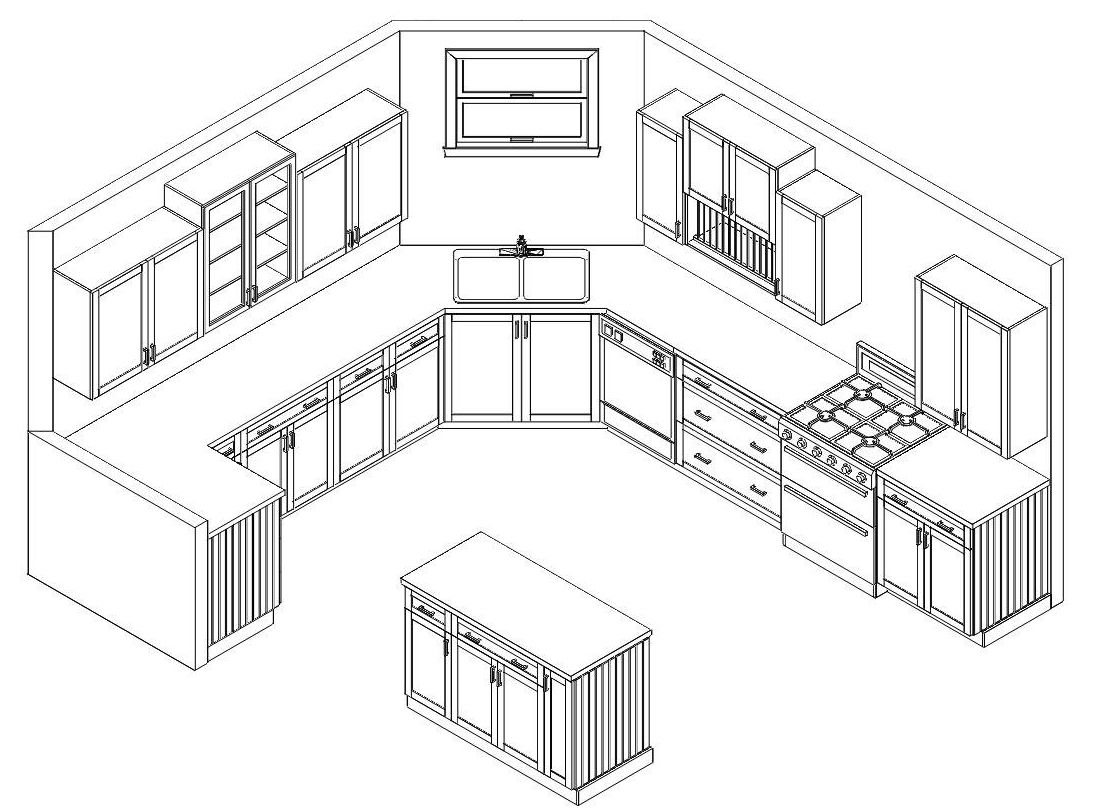 Kitchen Design Drawings modular kitchen design drawings | interior beauty