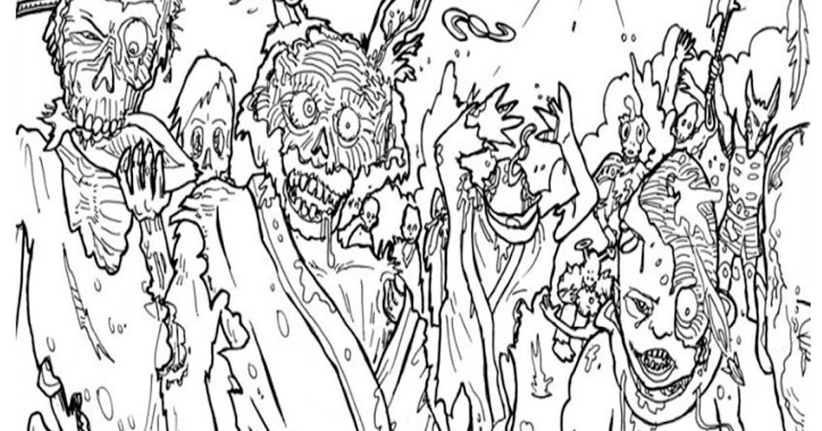 Pinto Dibujos: Walking Dead Para Colorear