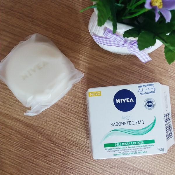 Sabonete facial: 2 em 1 para pele mista a oleosa nivea