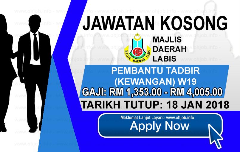 Jawatan Kerja Kosong Majlis Daerah Labis - MDLabis logo www.ohjob.info januari 2018