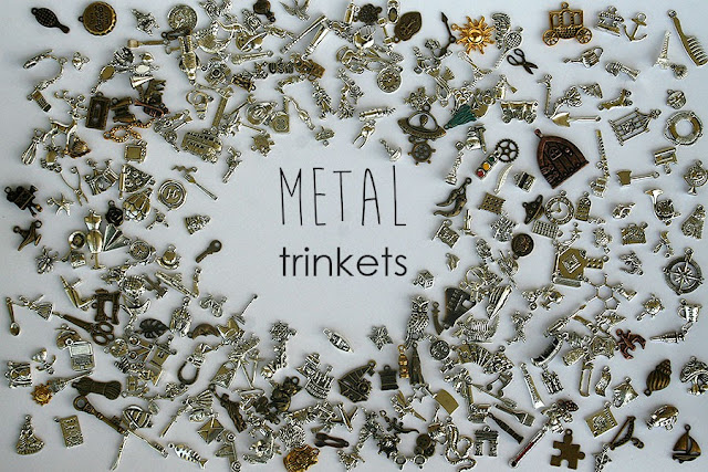 Metal I spy trinkets, alloy charms