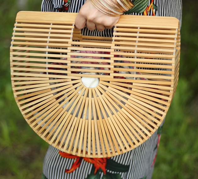 Popjulia Bamboo Basket Bag