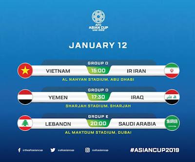 Yemen vs Iraq Live Streaming AFC 2019 (12.1.2019)